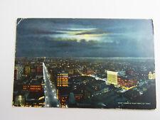 Mondschein-AK, gel. 1914: DENVER at night from D & F Tower, deutsch geschrieben