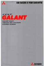 Mitsubishi Colt Galant Colour & Trim 1976-77 UK Market Foldout Brochure