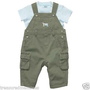 Carter's 2 Piece Overalls and T-Shirt Set ~ Size 3 Months ~ NWT