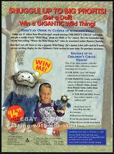 WHERE THE WILD THINGS ARE__Orig. 1994 Trade AD / plush toy promo__MAURICE SENDAK