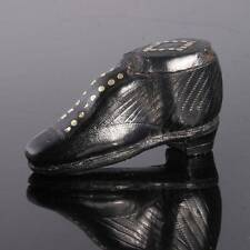 Antique Leather Shoe Snuff Box
