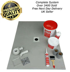 Wet Room Wetroom Shower Tray Kit 20mm All sizes of Kits available (Red Kit)