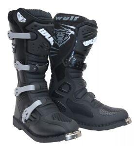 Wulfsport Wulf Adults Track Star MX Motocross Enduro Quad Motor Bike Boots 6/40