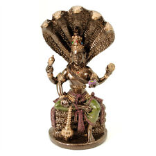 "LORD VISHNU STATUE 5"" Hindu Protector of the Universe GOOD QUALITY Resin Deity"