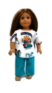 """Scrubs 18"""" Doll Clothes fits American Girl dolls Boo-Boos & Stitches"""