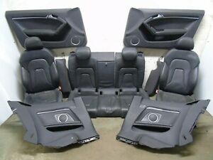 AUDI A5 COUPE 8T 2007-2014 COMPLETE BLACK LEATHER INTERIOR SEATS DOOR CARD