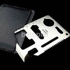 NEW Mini 11 IN 1 HUNTING CAMPING HIKING SURVIVAL POCKET CARD MULTI TOOLS USE