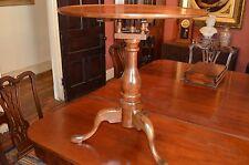 Antique Tea table Tilt-Top American birdcage Elm C.1800