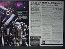 1994 LX200 Schmidt-Cassegrains Telescope Meade Instruments Vintage Print Ad12579