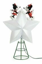 Disney Store christmas Tree Topper Mickey Minnie Light Up star NEW SEALED BOX
