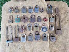 Lot of 28 Vintage Locks Padlocks Locksmith, Collectors, Metal arty supplies