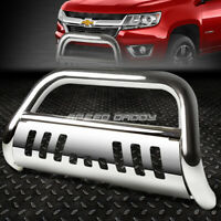 Skid Plate For Chevy//GMC Colorado//Canyon 3 inches Chrome Bumper Push Bull Bar Relocation Kit