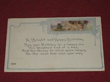1922 A Bright & Happy Birthday Postcard #104B Posted VG
