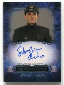 2016 Star Wars Masterwork Autographs 68 Sebastian Armesto Auto Lieutenant Mitaka
