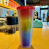 Starbucks China 2021 Valentine's Rainbow Diamond Studded Tumbler CUP 24oz