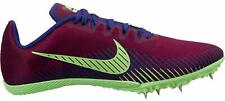 NEW NIKE ZOOM RIVAL M9 WOMENS SIZE 8.5 BORDEAUX PURPLE SPIKES CLEAT TRACK FIELD