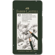 Faber-Castell 9000 Graphite Sketch Pencil Sets Art 8b - 2h Set of 12. Shipp