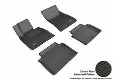 Fits 17-18 Genesis G80 1ST 2ND KAGU Carbon Pattern Black Custom Fit Floor Mat