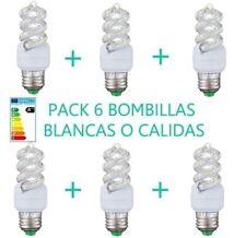 PACK 6 BOMBILLAS 11W LUZ BLANCA O CÁLIDA E27 LED OSSUN AHORRO ENERGÍA A+++25000H