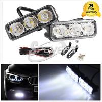 Universal 12V 3 LED High Power Car SUV DRL Daytime Running Light Fog Lamp