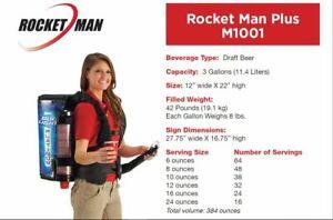 Rocket Man CO2 Mobile Drink dispenser Systems Beer Beverage Backpack 3 Gallon