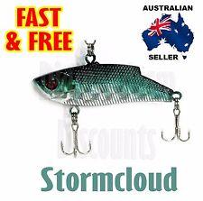 Stormcloud 6cm Hard Vibe Fishing Lure Metal 9g Blade Bass Barra Jew Bream Jack