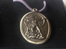 "Diana Goddess code dr88  Made From English Pewter On 18"" Purple Cord Necklace"