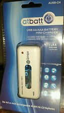 Atbatt Usb Aa/Aaa battery Mini Charger w/Usb Port