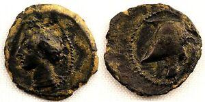 Hispania-Cartagonova. 1/4 de calco. 220-215 a.C. Cobre 1,2 g