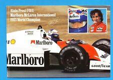 Alain Prost  1985 Marlboro McLaren International  Formula 1 vintage new postcard