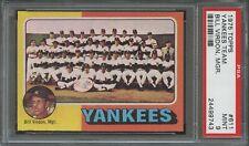 1975 Topps SETBREAK #611 Yankees Team Bill Virdon Manager PSA 9 MINT