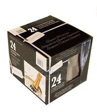 24x  Elegant  Disposable Premium Plastic Wine Champagne Glasses Flutes Set1