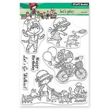 PENNY BLACK RUBBER STAMPS CLEAR LET'S PLAY  NEW clear STAMP SET