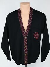Vintage Pendleton Womens 1X Southwest Pattern Trim Virgin Wool Cardigan Sweater