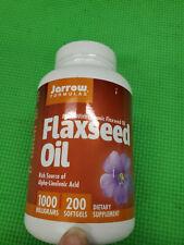 New listing Jarrow Formulas, Organic, Flaxseed Oil, 1,000 mg, 200 Softgels exp-8/2022