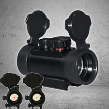 Reflex Laser Red/Green Dot Rifle scope Sight for Hunting w/ Flip-up Lens Covers