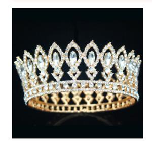 Crown Queen Medieval Tiara Costume imperial Head Wear Gold Silver Royal Tiara