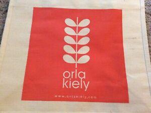 Bnwt Neu Orla Kiely Baumwolle Jute Bag-Flower Tomaten-große wiederverwendbare Shopper Tasche