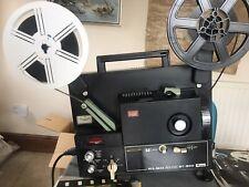 Vintage Elmo ST-800 Super 8 Sound Movie Projector Boxed + Tapes Manual New Belt