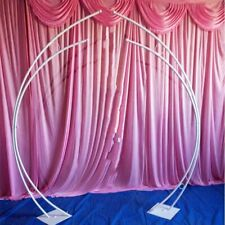 Metal Iron Arch Stand Wedding Event Backdrop Frame 2 Pcs/Set Garden Decors Racks
