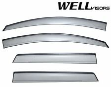 WellVisors Side Window Guard Visors Deflectors W/ Black Trim For 07-14 Ford Edge