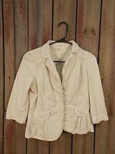Ann Taylor Loft Jacket Cream Colored Blazer Button Front Women's Size S/P
