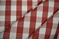 """Tablecloth Classic Checkered Red Fabric 62""""Wide Premium Durable Soft Made In USA"""