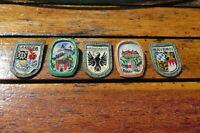 5 Tinnies WHW GERMAN WINTERHILFSWERK PINS  / BADGES - WORLD WAR 2