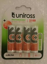 Uniross AA 2100 mAh HYBRIO 4 x Pre Charged Rechargeable Batteries NiMH - HR6 LR6