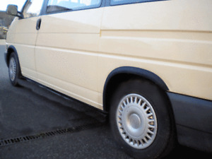 VW TRANSPORTER T4 nez court Extensions d'aile 2 AV et 2 AR Noir mat Kit '90-03