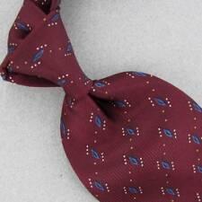 VAN HEUSEN Tie BLUE MAROON Dots Diamond GEOMETRIC Silk Necktie Ties Z1-240