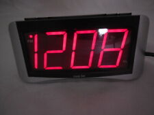 Equity Insta-Set Alarm Clock Time Zones Battery Backup Large Red Night Numbers