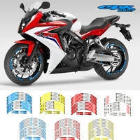 "MOTORCYCLE RIM ""17 STRIPES WHEEL DECALS TAPE STICKERS FOR HONDA CBR650F CBR 650F"