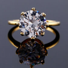 Gorgeous White Sapphire Diamond Gold Oval 925 Silver Wedding&Party Flower Ring 8